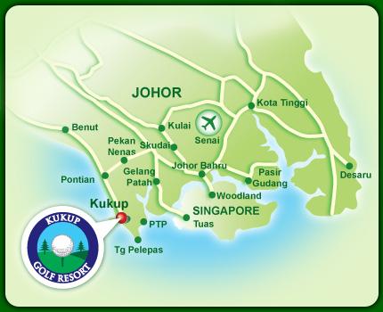 kukup Golf map