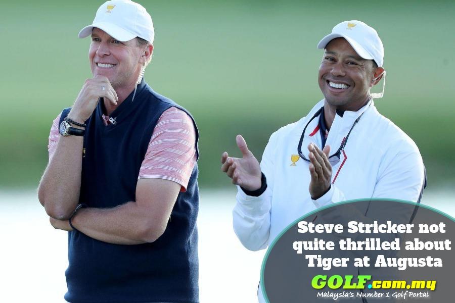 Steve Stricker not quite thrilled about Tiger at Augusta