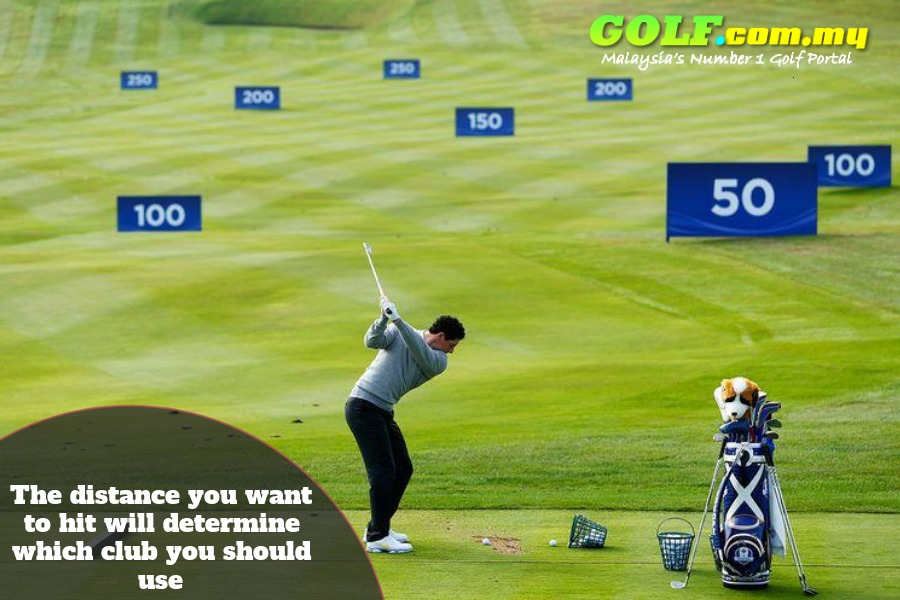 Knowing which golf club irons to use for different distances